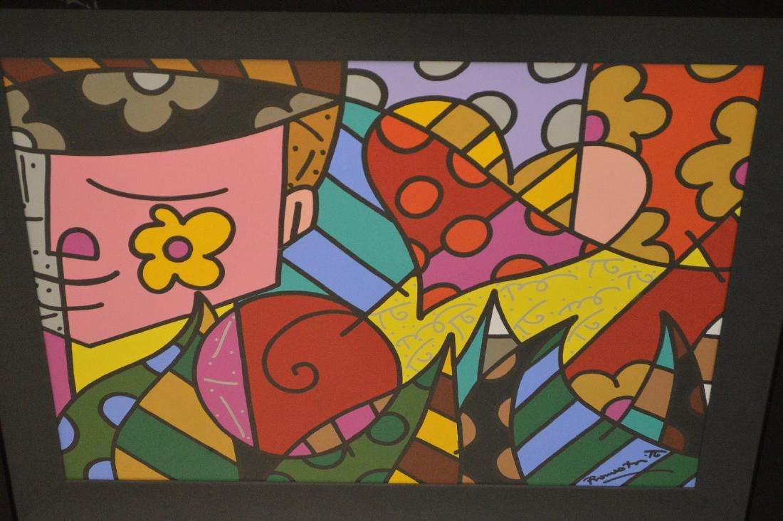 Romero Britto (Brazilian b. 1963) Acrylic on board, - 2
