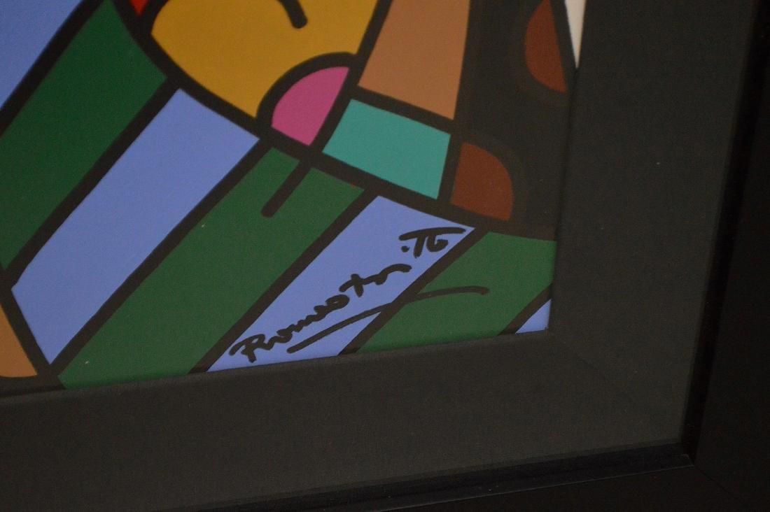 Romero Britto (Brazilian b. 1963) Acrylic on board, - 5
