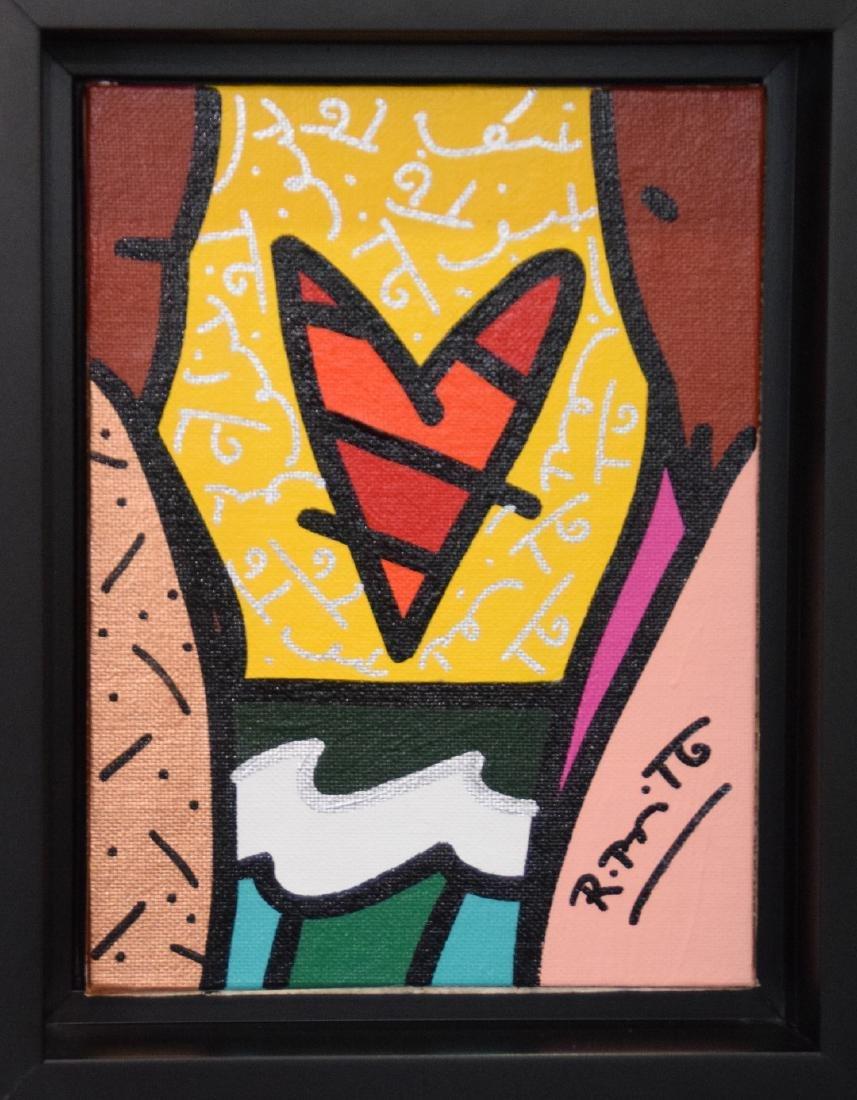 Romero Britto (Brazilian b. 1963) acrylic on canvas