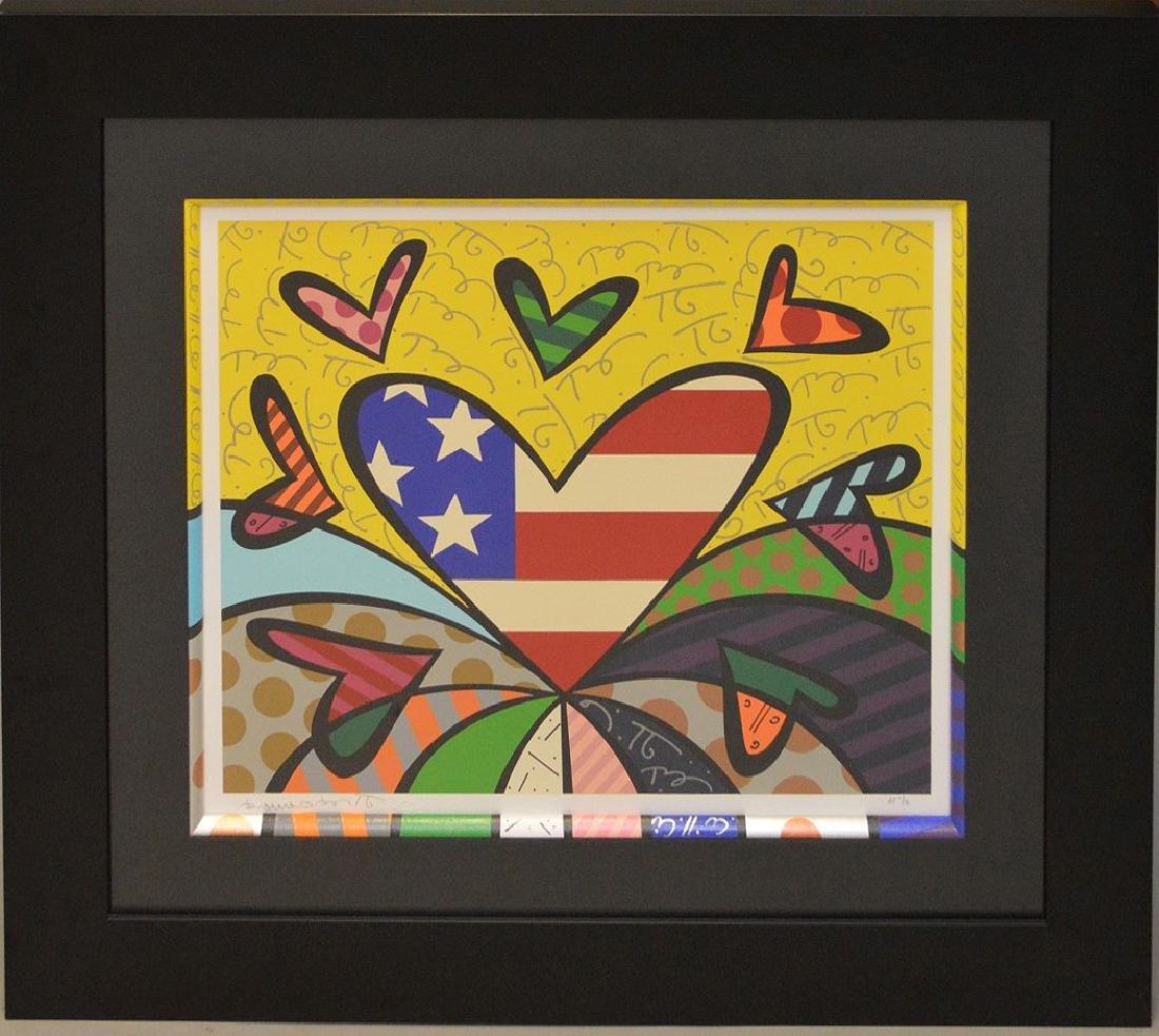Romero Britto (Brazilian b. 1963) AMERICAN REVIVAL AP,