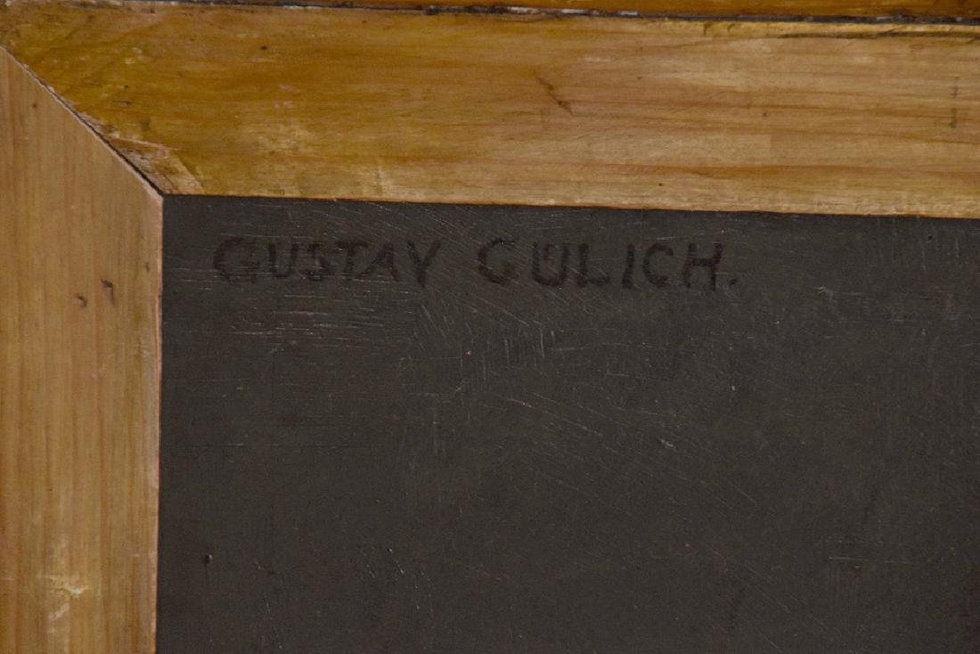 Antique Chef Painting by Gustav Gullich oil on board, - 6