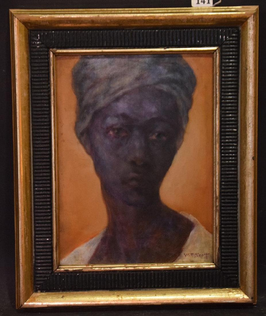 William Edouard Scott (American 1884 - 1964) oil on