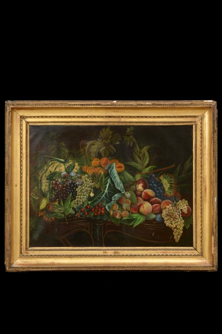 French 18th/19th Century Still Life Fruit Oil Painting.