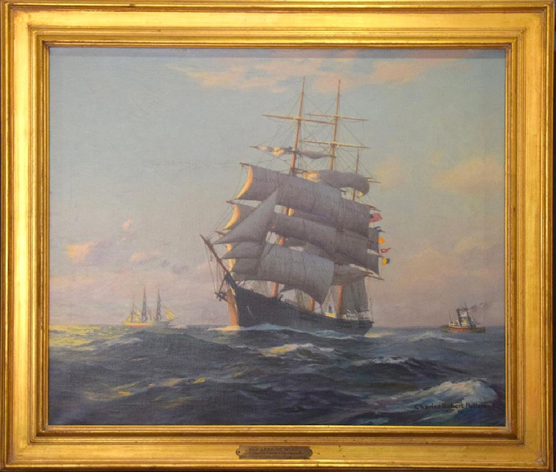 CHARLES ROBERT PATTERSON (1878-1958, NY) Ship,  Leading