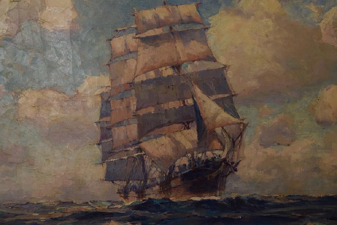 LARS THORSEN (CT, 1877-1952) Ship Painting DAUNTLESS, - 2