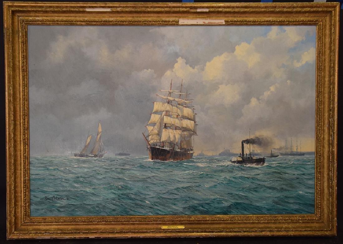 BARRY MASON (British, b. 1947)  oil on canvas, Clipper
