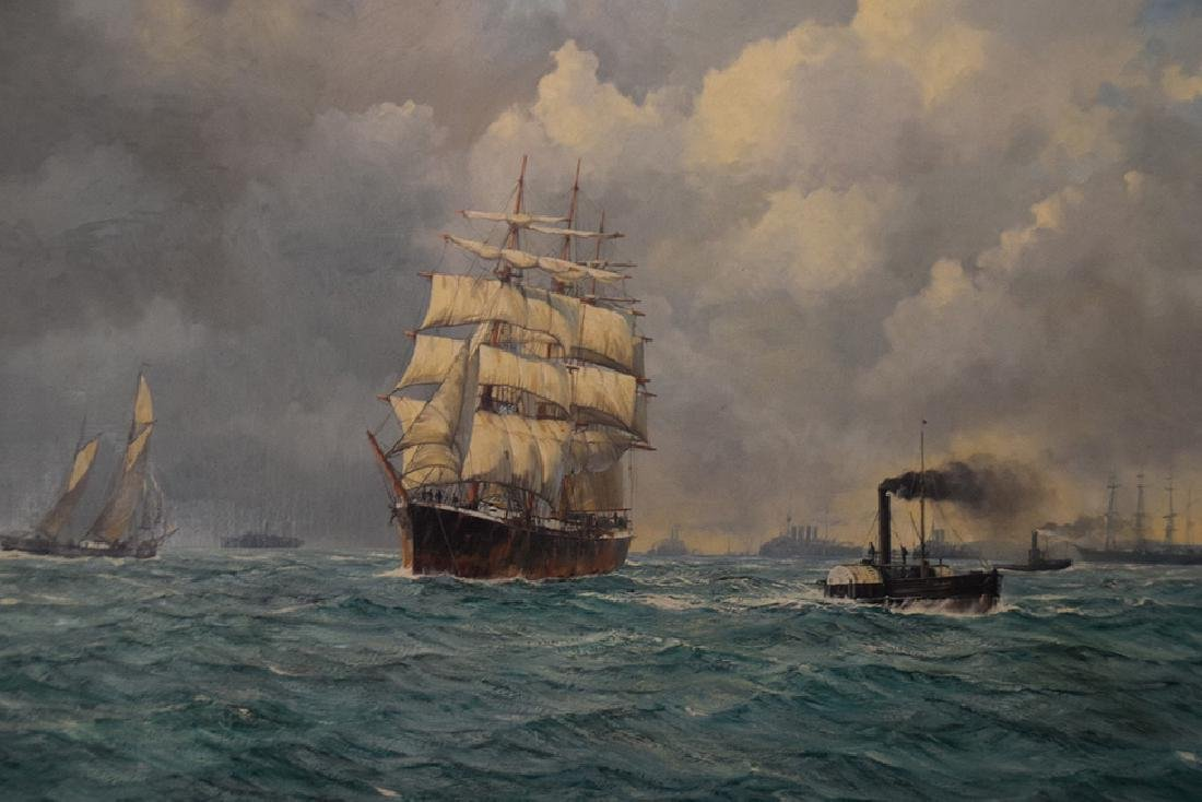 BARRY MASON (British, b. 1947)  oil on canvas, Clipper - 2