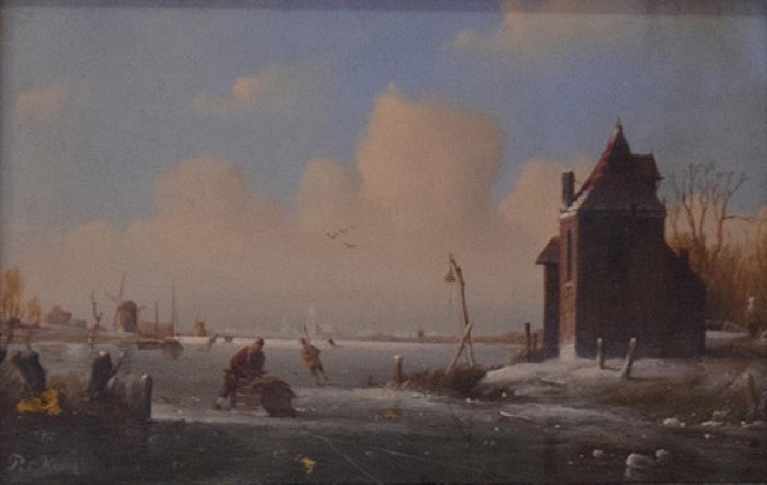 Cornelis Peter Hoen  (Netherlands 1814 - 1880) Ice