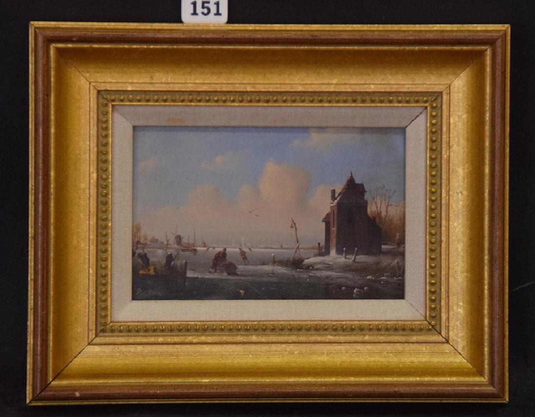 Cornelis Peter Hoen  (Netherlands 1814 - 1880) Ice - 2