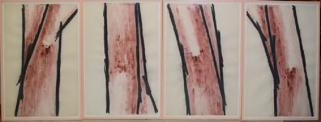 4 Modern Watercolor/charcoal on paper, ca. 1982 by