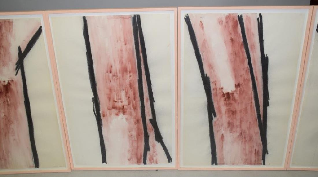4 Modern Watercolor/charcoal on paper, ca. 1982 by - 2