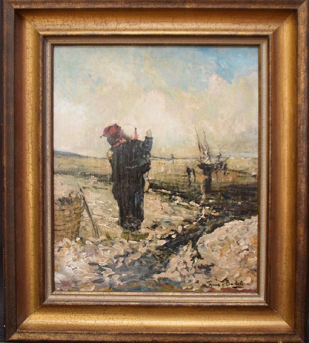 Hans von Bartels (GERMAN, 1856–1913) oil on mahany