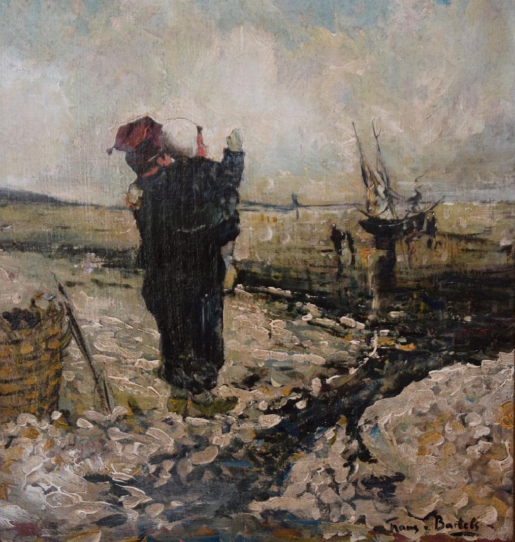 Hans von Bartels (GERMAN, 1856–1913) oil on mahany - 2
