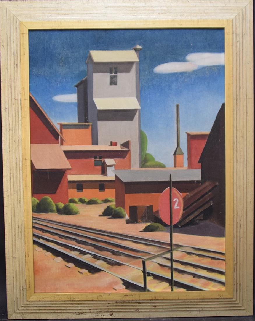 Frank Smith (AMERICAN) Modernist oil on canvas