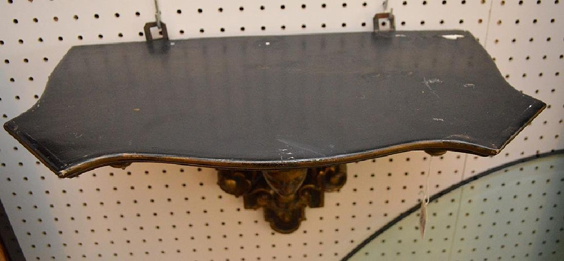 Antique French Empire Style Gilt Wooden Wall Bracket, - 5