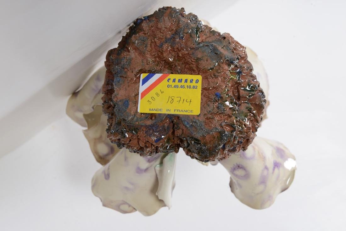 """Algue Tachete"""" Majolica Sculpture by Christine Viennet - 10"""