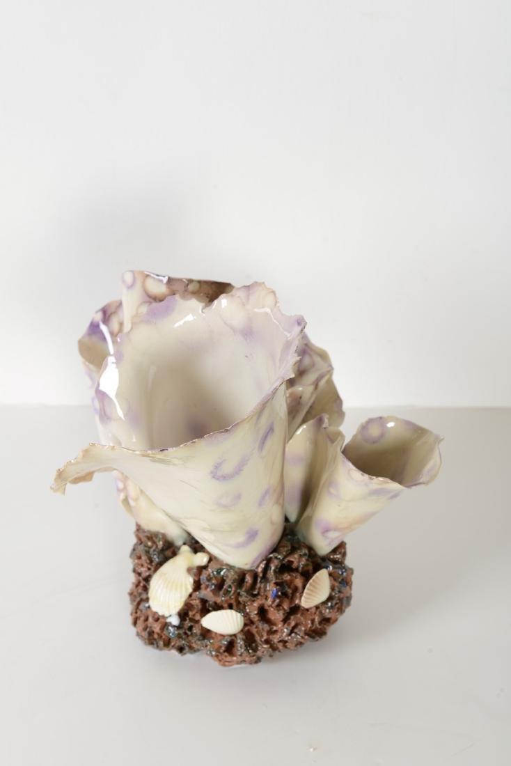 """Algue Tachete"""" Majolica Sculpture by Christine Viennet - 4"""