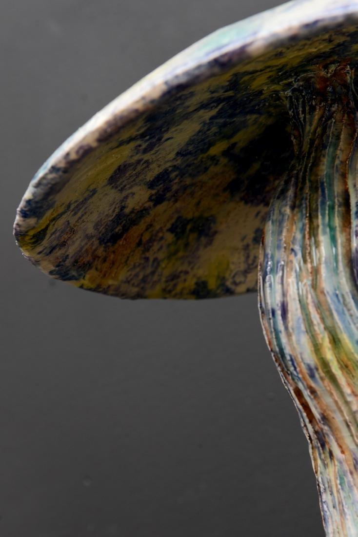 """Algue Mauve"""" Majolica Sculpture by Christine Viennet. - 7"""