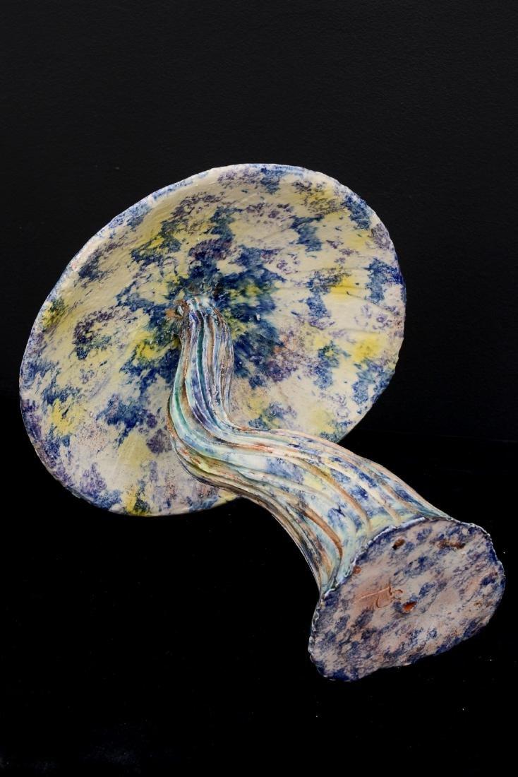 """Algue Mauve"""" Majolica Sculpture by Christine Viennet. - 8"""