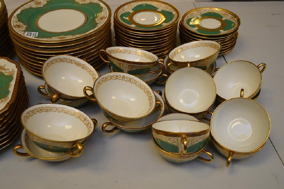 Set of Black Knight china service, incl; 11 dinner - 4