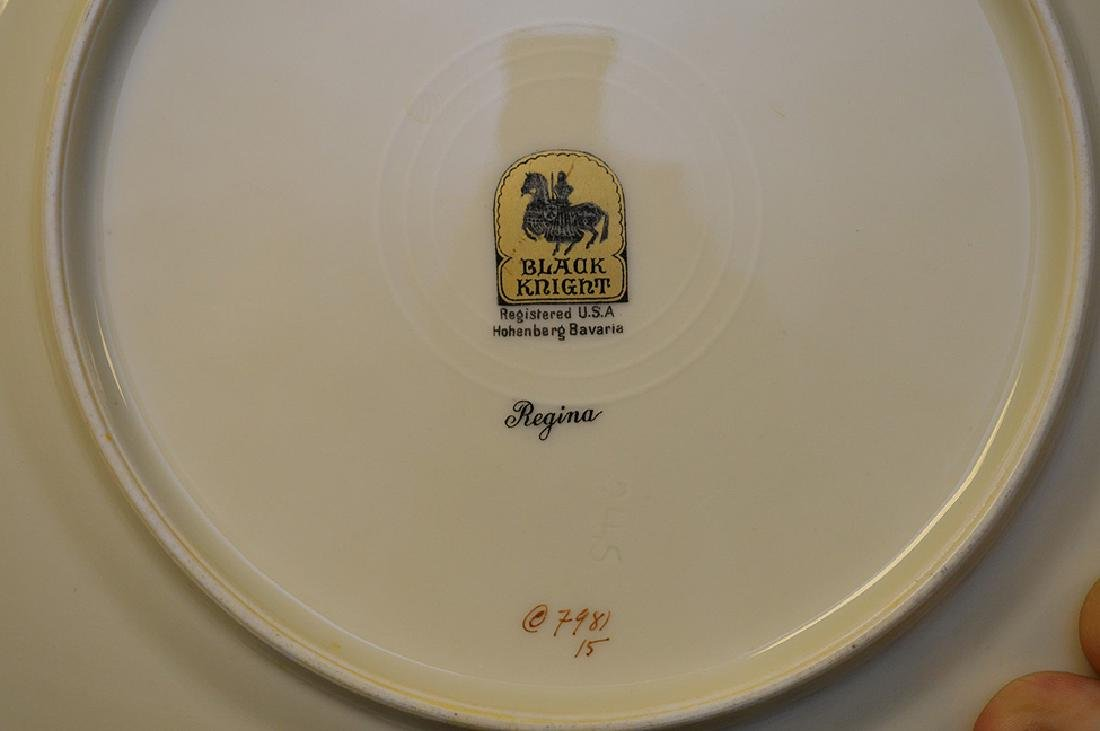 Set of Black Knight china service, incl; 11 dinner - 6