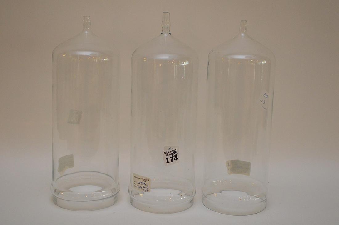 Set of Three Vintage Cylindrical Lab Glassware,