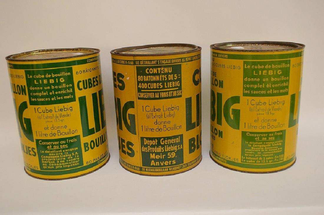 "Set of Three Vintage Belgian Tin Can, ""Liebig Cubes"", - 3"