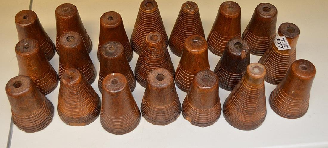 "Thread Reels, 21 spools, approx 3 1/2"" to 4"""