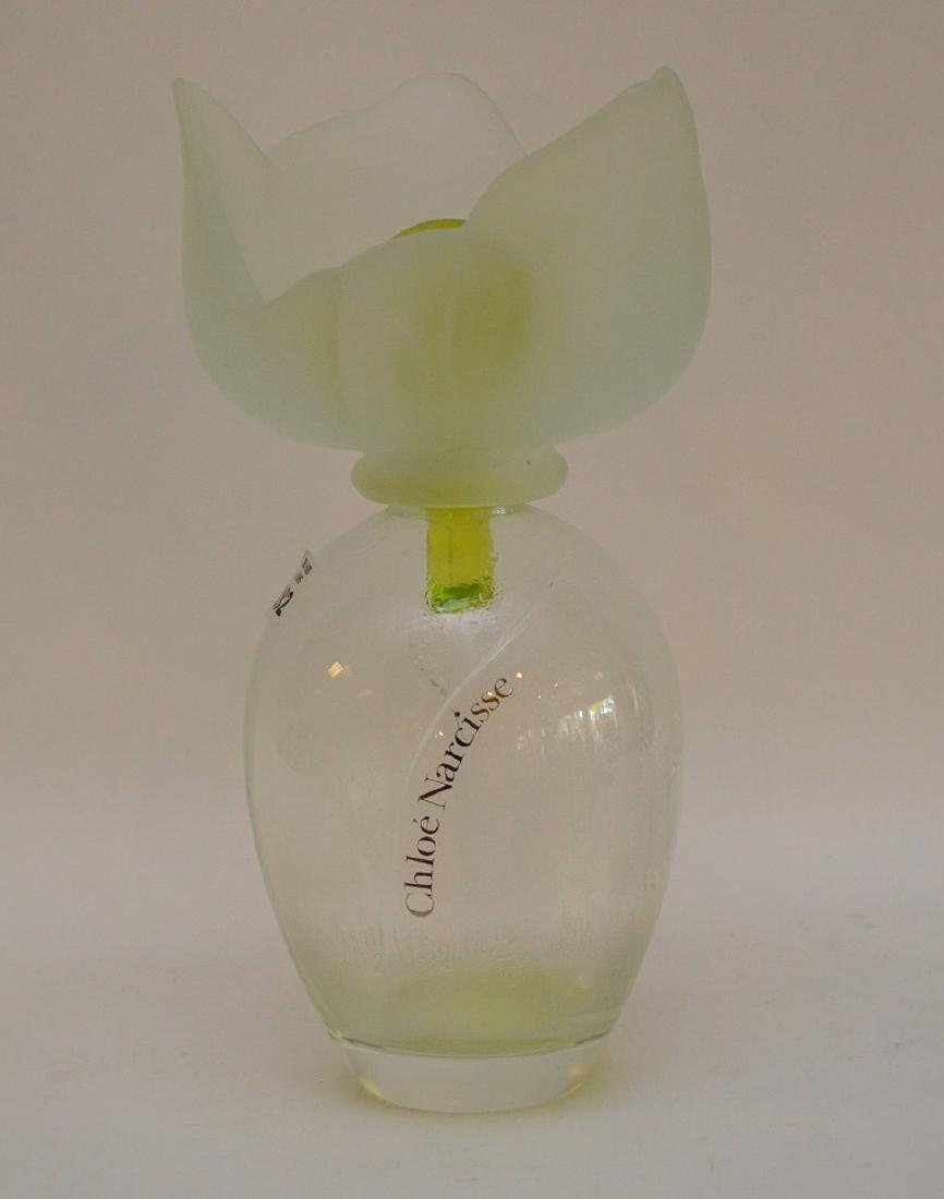 """Factice Chloe Narcisse with frosted tulip stopper, 13""""h"""