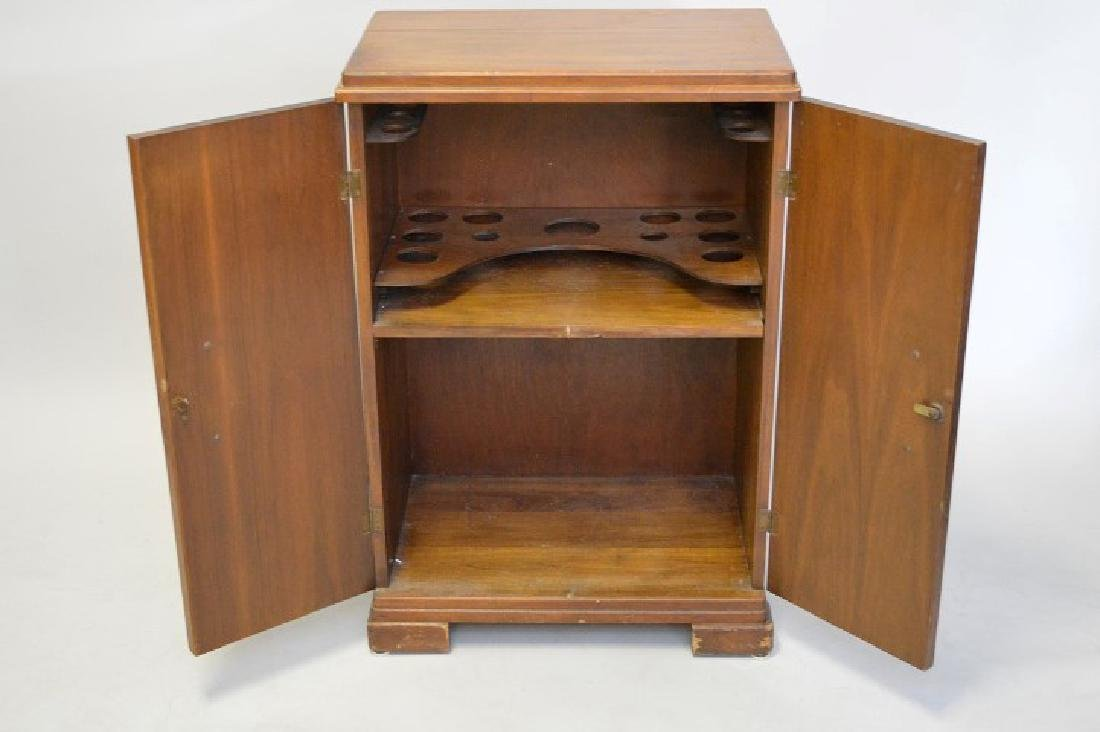 "Art Deco mahogany cabinet configured for a bar, 36""h x - 5"