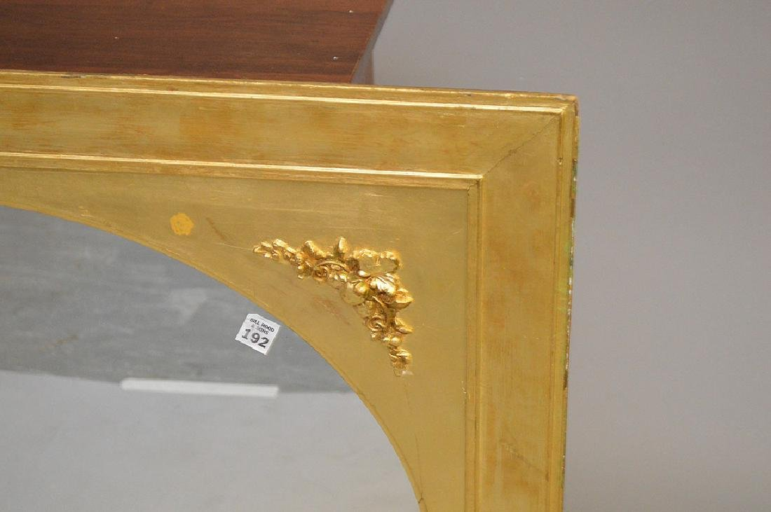 Giltwood framed mirror with 4 floral corners, 32 x - 2