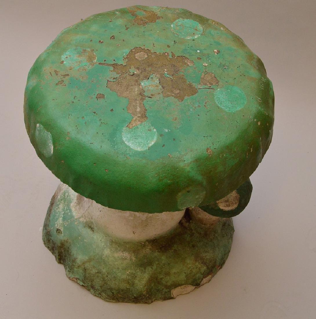 """Cement vintage garden mushroom, 17""""h x 14""""w - 3"""