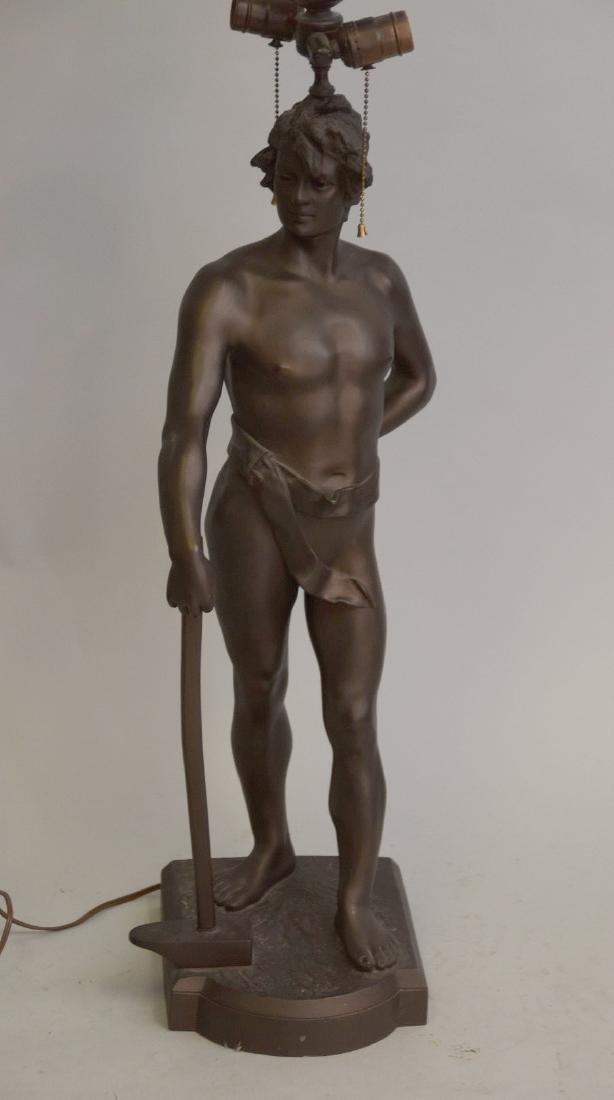 Bronze nude After Anton Nelson (French, b. 1854) - 2
