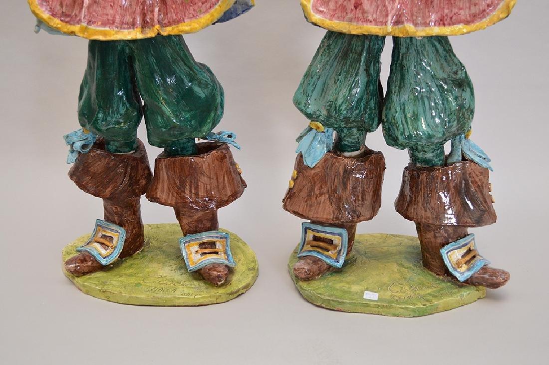 "Pair of ceramic Italian Musketeers, 49""h x 17""w - 4"