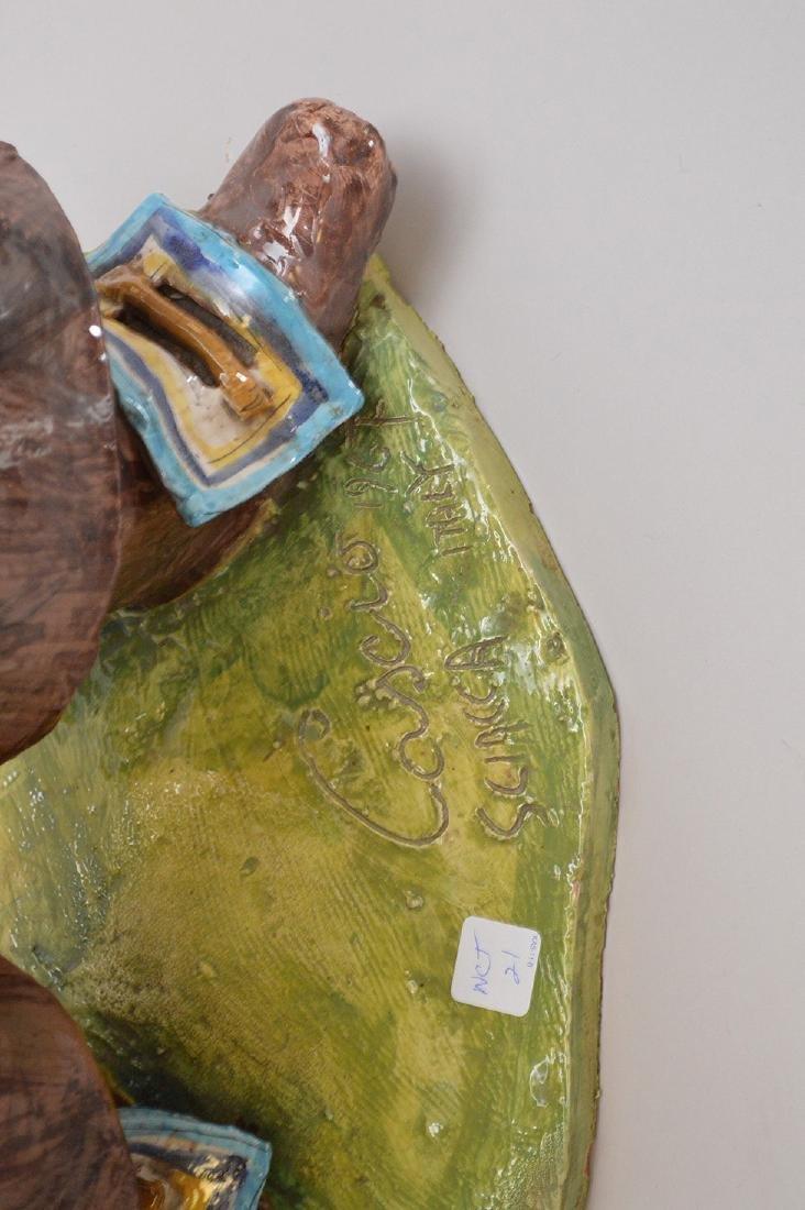 "Pair of ceramic Italian Musketeers, 49""h x 17""w - 5"