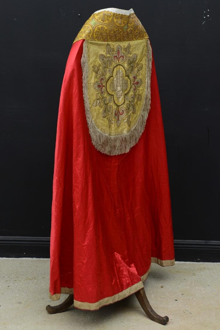 """Antique French Liturgical Vestment """"Pluviale"""" or Cope. - 10"""