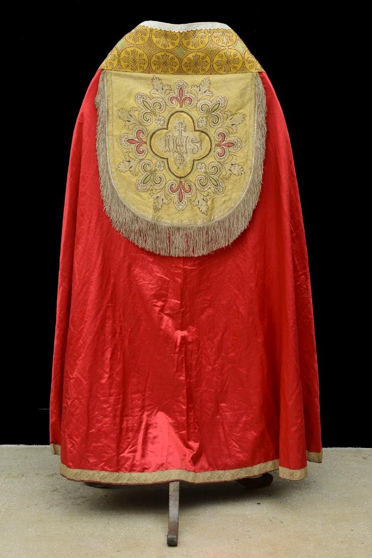 """Antique French Liturgical Vestment """"Pluviale"""" or Cope."""
