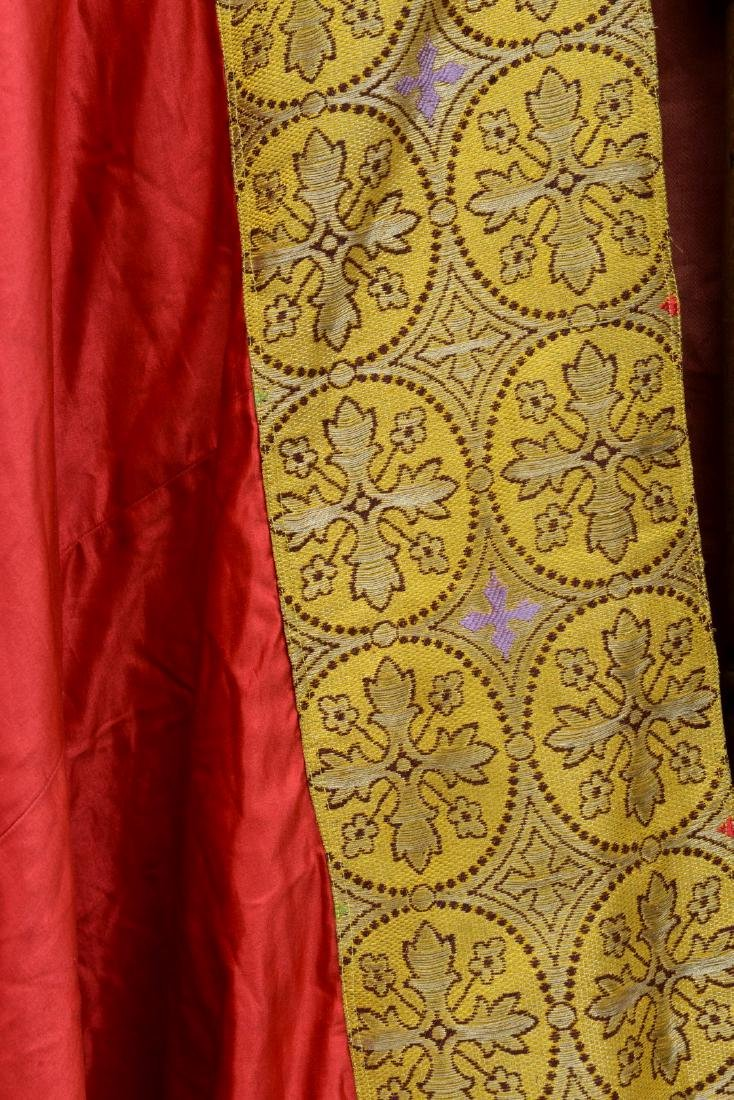 """Antique French Liturgical Vestment """"Pluviale"""" or Cope. - 5"""
