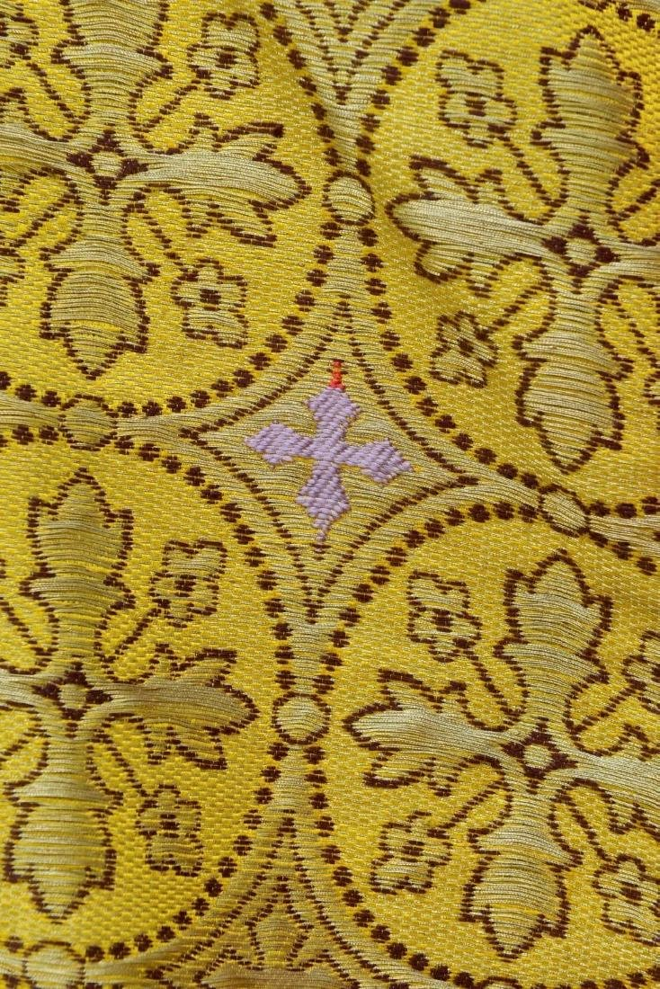 """Antique French Liturgical Vestment """"Pluviale"""" or Cope. - 7"""