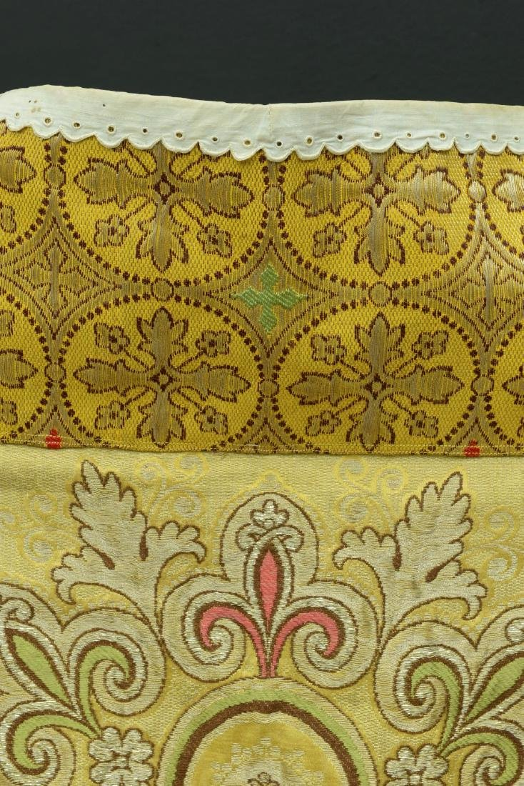 """Antique French Liturgical Vestment """"Pluviale"""" or Cope. - 8"""