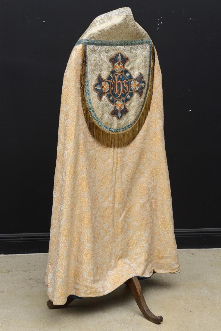 """Antique French Liturgical Vestment """"Pluviale"""" or Cope. - 3"""