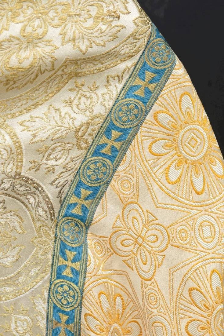 """Antique French Liturgical Vestment """"Pluviale"""" or Cope. - 6"""