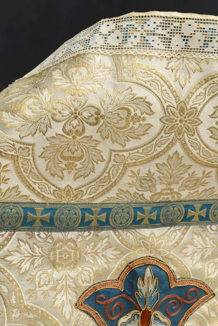 """Antique French Liturgical Vestment """"Pluviale"""" or Cope. - 9"""