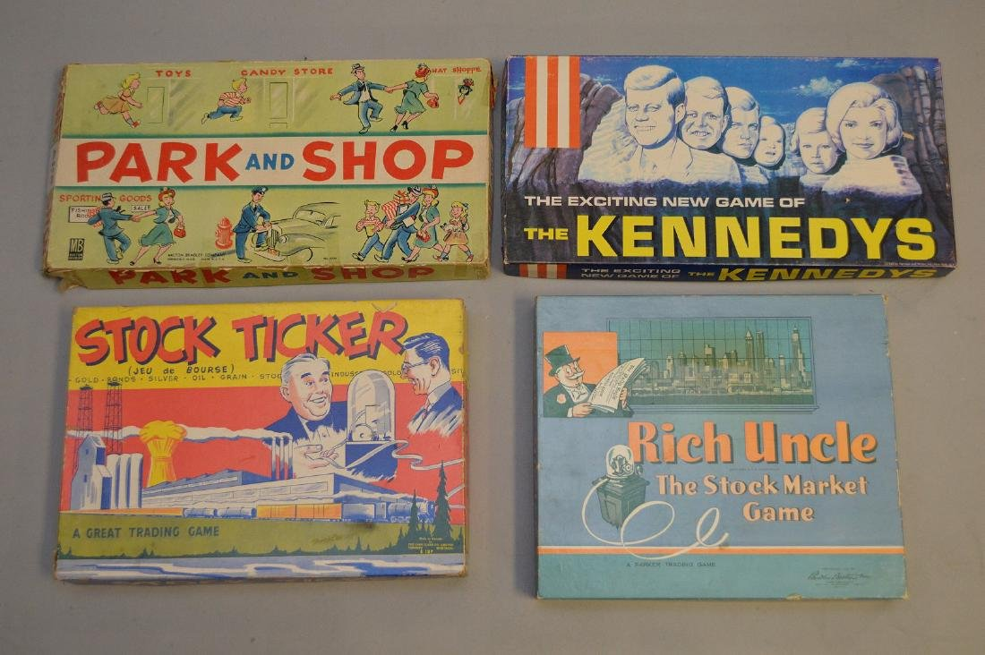 4 Circa 1960's board games, incl; The Kennedy's, Rich