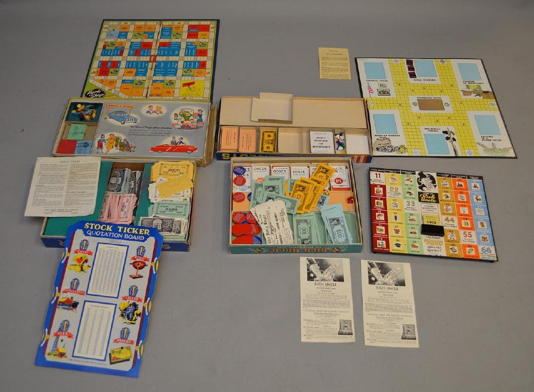 4 Circa 1960's board games, incl; The Kennedy's, Rich - 7