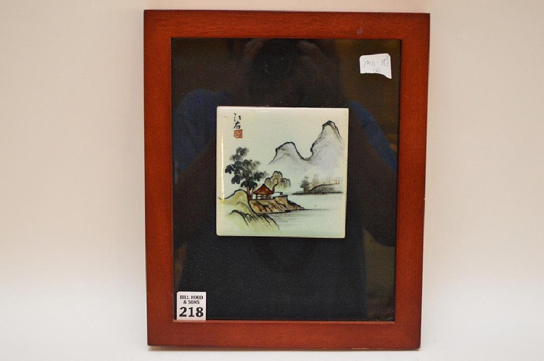 Pair of Chinese Porcelain Hand Painted Plaques. Large - 2