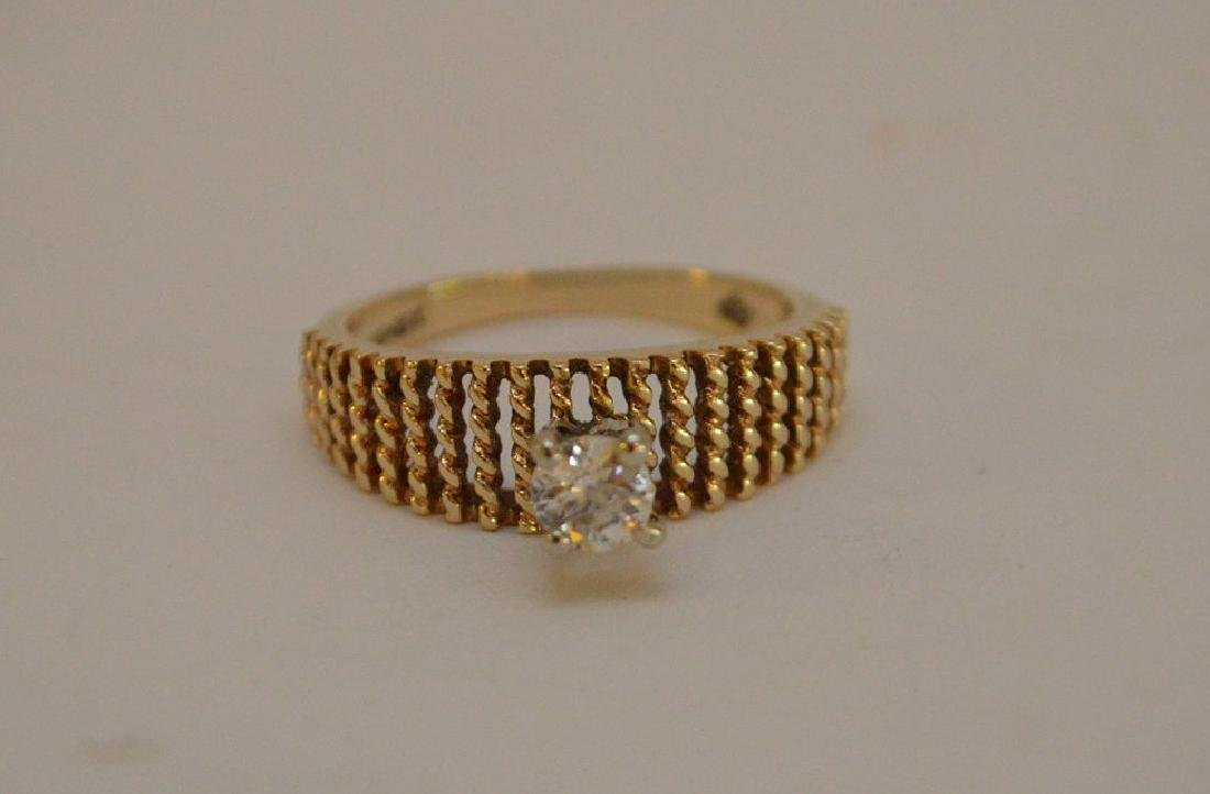 Impressive Solitaire Ring in 18KT Yellow Gold with a