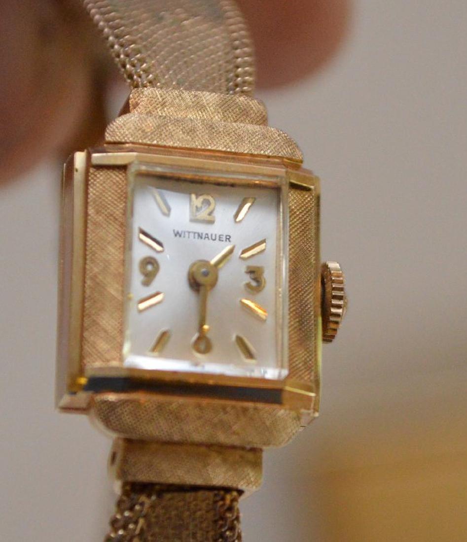 Wittnauer 14kt yellow gold women's watch, (casing only) - 10