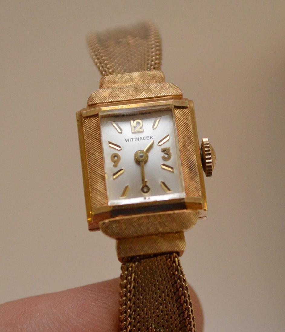 Wittnauer 14kt yellow gold women's watch, (casing only)
