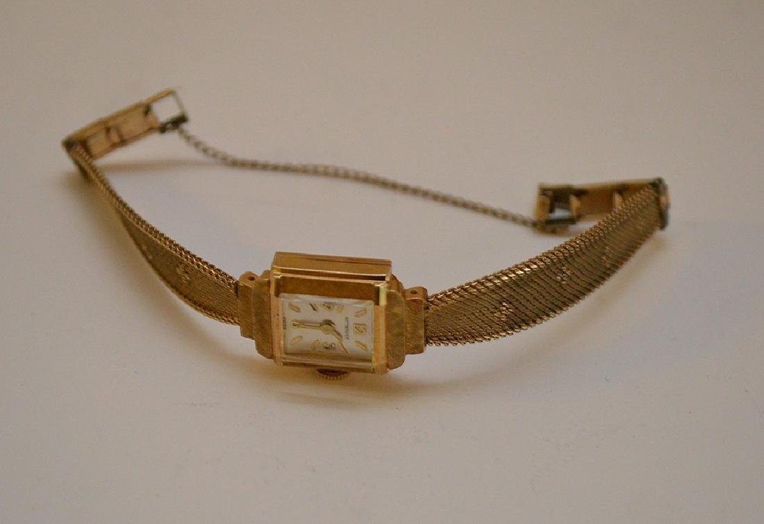 Wittnauer 14kt yellow gold women's watch, (casing only) - 2